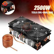1800W 2500W ZVS Tesla Induction Heater Induction Heating Machine PCB Board Module Flyback Driver Heater Cooling Fan + Coil