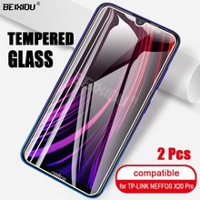 2 PCS Full Tempered Glass For TP-LINK NEFFOS X20 Pro Screen Protector tempered glass For TP-LINK NEFFOS X20 Pro Protective Film(China)