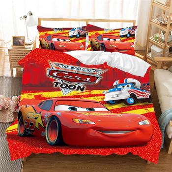 Czerwony zygzak McQueen samochód pościel zestaw do dekoracja do pokoju dziecięcego król kołdra zestaw poszewek łóżko pojedyncze prześcieradło chłopiec domu dzieci pościel tanie i dobre opinie Disney Brak Zestawy poszew na kołdry CN (pochodzenie) Poliester Bawełna 1 0 m (3 3 stóp) 1 2 m (4 stóp) 1 35 m (4 5 stóp)