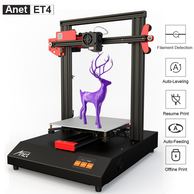 Anet Competitive 3D Printers ET4 A8 Plus A6L Reprap i3 Impresora 3D Printer With Testing Filament