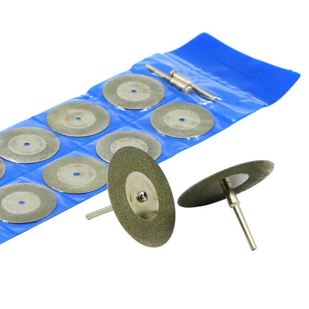 10pcs Diamond Cutting Discs Drill Bits Mini Cutoff Wheel Disc Circular Saw Blade Wheels For Cutting Grinding Tool Granite Blade