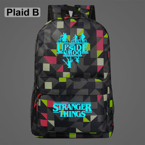 Image 3 - Luminous Stranger Things Bicycle Demogorgon Galaxy Lightning Children School bag Teenagers Student Schoolbags Women Men Backpack