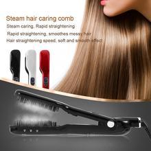 Светодиодный гребень для волос, Керамический выпрямитель для волос, паровой стайлер для сухих и влажных волос