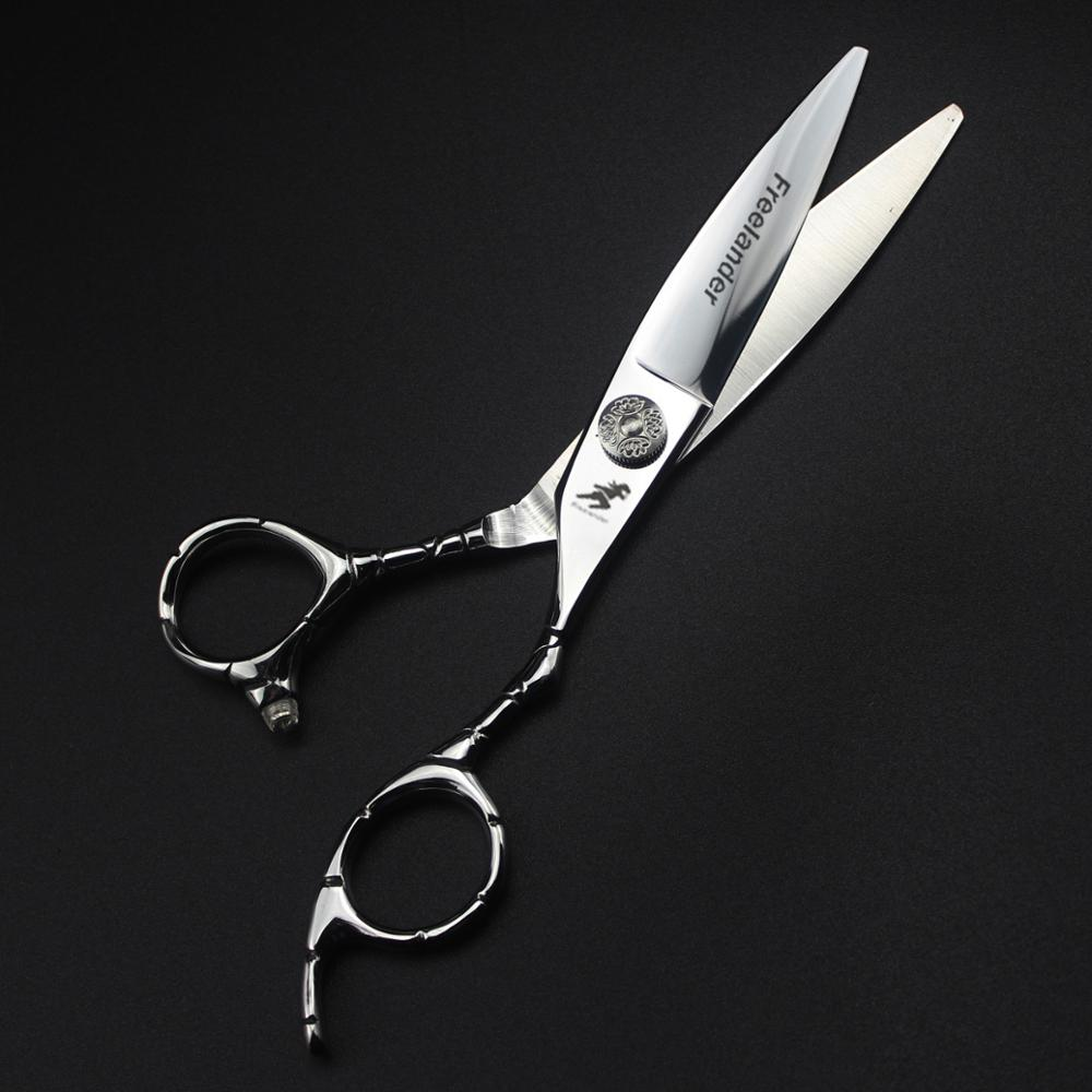 6 Inch Willow Blade Hairdressing Scissors 440C Non-slip Handle Barber Shears Cutting Scissors Hair Scissors Professional Shears