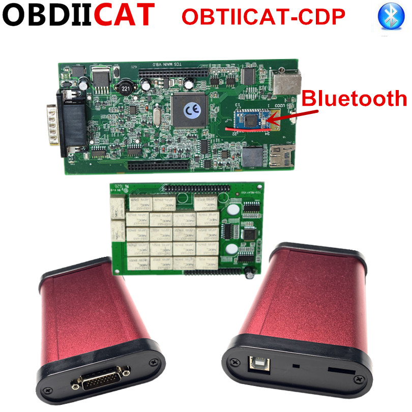 Buy 5Pcs/lot OBDIICAT-CDP   Newest SW 2016.R1 With Keygen TCS +VCI OBD2 Scanner With  Bluetooth  OBD2 Trucks&Cars Diagnostic Tool for only 150 USD