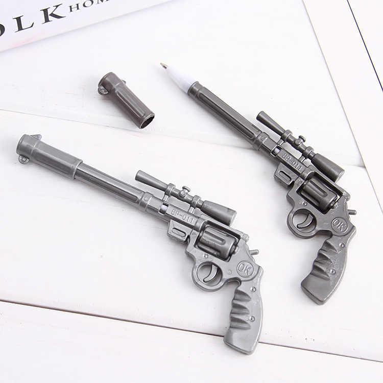 1 adet Kawaii makineli tüfek jel kalem 0.35mm sevimli hayvanlar sihirli kalemler Kawaii jel kalemler okul yazma yenilik kırtasiye kız hediyeler