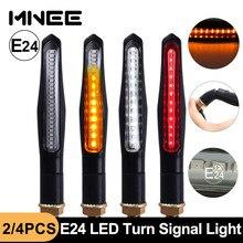 Led transformar a luz do sinal construído relé e24 fluindo piscas de volta da motocicleta drl/stop signal lamp flash iluminação travagem blinker