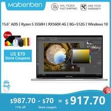 MAIBENBEN ZMDREAM Artbook EINE Laptop 15,6 Zoll 1920*1080 ANZEIGEN Ryzen5 3550H RX 560X PCIE SSD gaming online lernen CNC