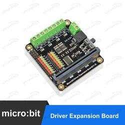 DFRobot mikro: nieco Microbit jazdy kierowcy kontroler/karta rozszerzenia z 4-way silnik napędza + 8-serwomechanizmem interfejsy dla dzieci