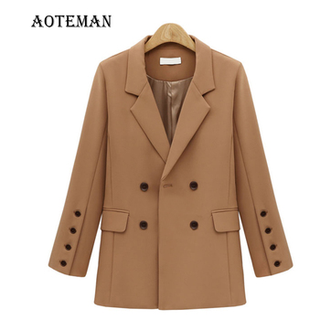 Women Suits Jackets Blazers Female Solid Coats 2021 Office Ladies Wears Autumn Spring Slim Jacket Double Breasted Outwears LL002