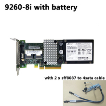 LSI MegaRAID SAS 9260 8i LSI00198 8 포트 512MB 캐시 SFF8087 6Gb RAID0.1.5 PCI E 2.0 X8 컨트롤러 카드