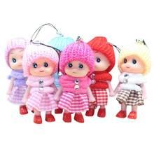 5 adet çocuklar oyuncaklar interaktif bebek bebek oyuncak Mini bebek kızlar ve erkekler için yeniden doğmuş bebek oyuncak hediye çocuklar için sevimli anahtar küçük kolye