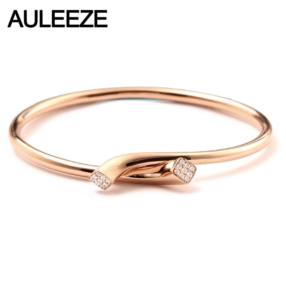 Auleeze 18k Rose Gold Diamond Bracelet