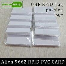 Rfid-теги UHF ПВХ Карта Alien 9662 EPC6C 915 МГц 868 МГц 860-960 МГц Higgs3 85,7*54*0,8 мм дальние смарт-карты пассивные RFID метки