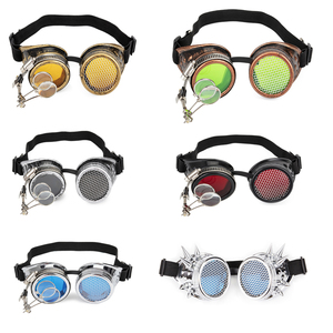 Image 5 - FLORATA קוספליי בציר מסמרת Steampunk משקפי משקפיים ריתוך גותי קליידוסקופ צבעוני רטרו משקפי