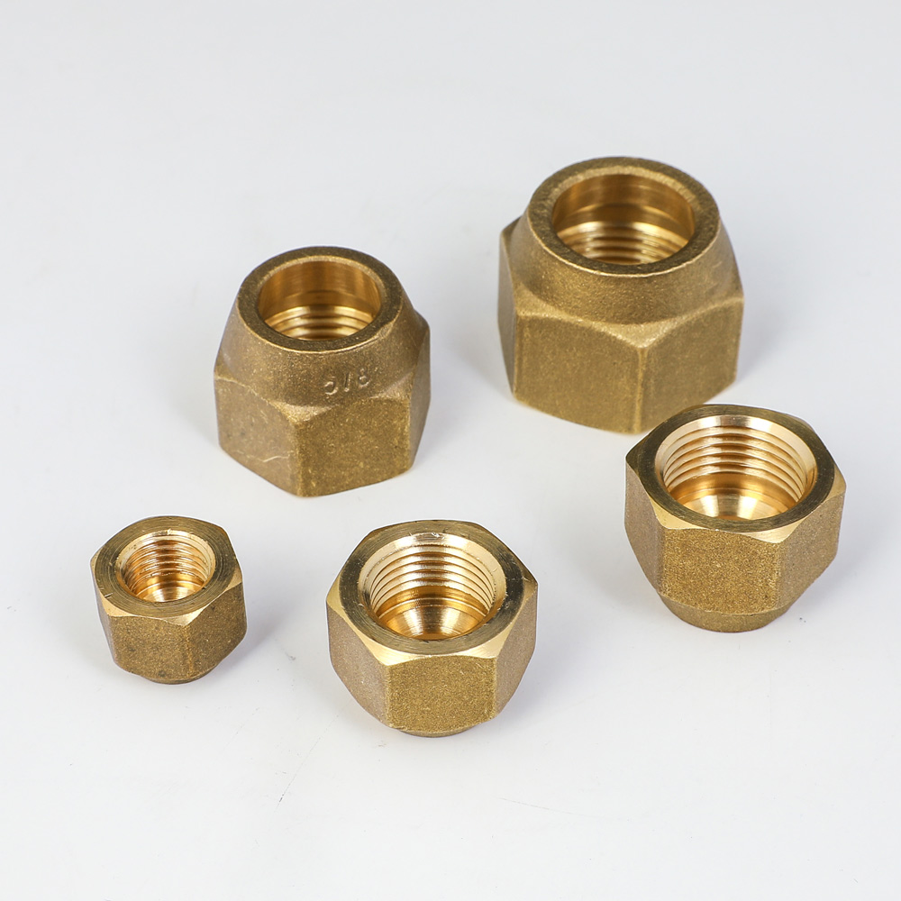 Brass Forged Nut For 45 Degree SAE 1/4