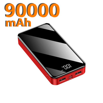 Phone Power Bank 90000mAh USB Type C 50000mAh Powerbank External Battery Charger Poverbank For iPhone 11 For Xiaomi 2