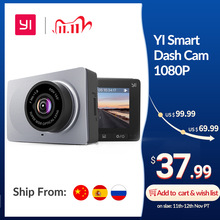 "YI Smart Dash Camera Full HD Car DVR Cam Video Recorder WiFi  Night Vision 1080P 2.7"" 165 Degree Camera Grey Car Recording"