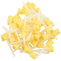 50x Dental Impression Tip Temporary 1: 1 Silicone Rubber  50X Yellow Tips|Silicone Sealant| |  -