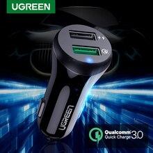 Автомобильное зарядное устройство Ugreen Quick Charge 3,0 USB быстрое зарядное устройство для Xiaomi Mi 9 iPhone X Xr 8 huawei samsung S9 S8 QC 3,0 USB Автомобильное зарядное устройство