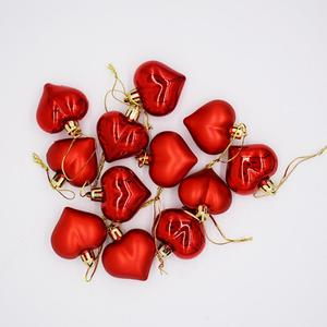 12PCS/Pack Heart Christmas Pendant Balls Christmas Tree Decoration Party Ornaments 2020 Christmas Decorations For Home