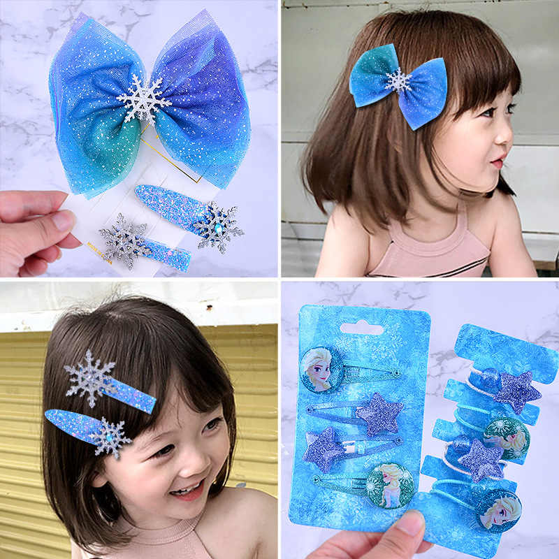 7//10Pcs Baby Girls Hair Clips Princess Kids Hair Accessories Hairpins Set bc*