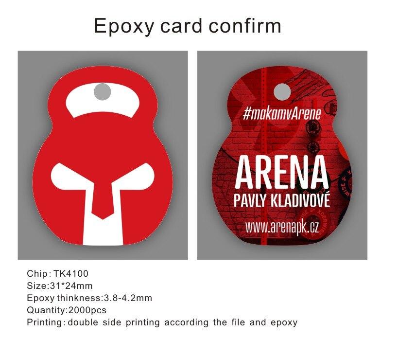 RFID Epoxy Card Printing 2000pcs TK4100/EM4100 Chip ID Cards