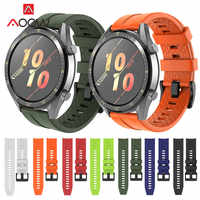 22mm Sport Silicone Watchband for Huawei Honor Magic Watch GT Active Strap Bracelet Band for Samsung Galaxy Watch 46mm Gear S3