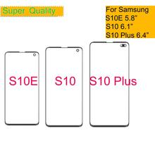 10Pcs/lot For Samsung Galaxy S10 S10E S10 Plus Touch Screen Front LCD Glass Panel Outer Glass Lens S10+ Touch Panel Replacement цена 2017