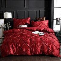 Conjunto de cama de luxo  jogo de cama de luxo  edredon e casal  vermelho  xy58 #