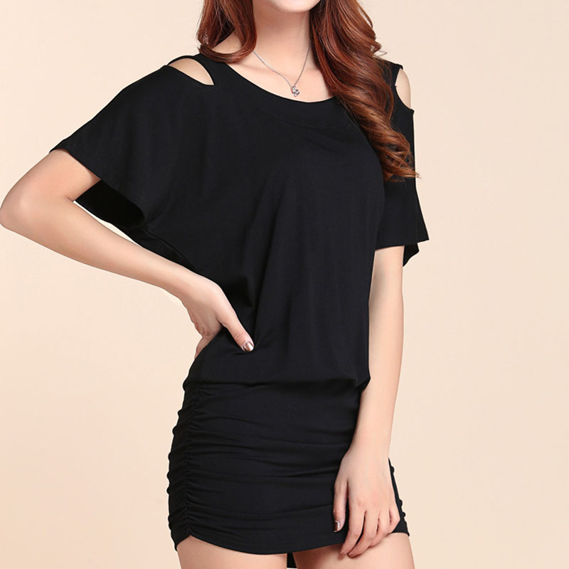 women sexy bag hip summer dress Night club party with Open back female plus size short sleeve lady clothings