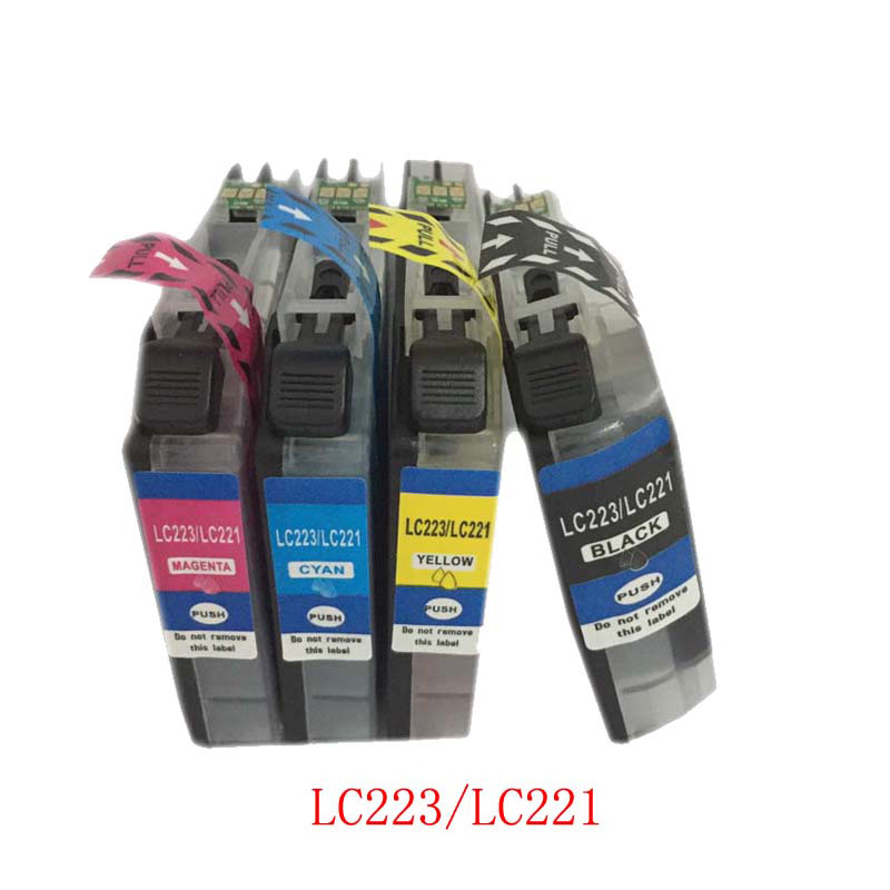 Vilaxh 1 комплект LC223 LC221 Совместимый картридж для Brtoher DCP-J562DW/J4120DW/MFC-J480DW/J680DW/J880DW/J4620DW/J5720DW/J5320DW