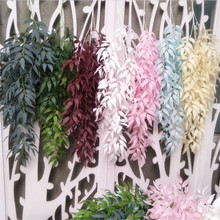 10pcs Artificial Willow Tree Branches Silk Greenery Vines Olive Stems for Wedding  Party Decoration