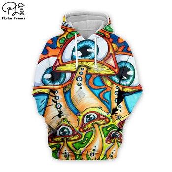 Hombres Mujeres trippy dibujos Ojo de arco iris shouses imprimir 3d hoodies harajuku native sudaderas cremallera unisex Pullover corto