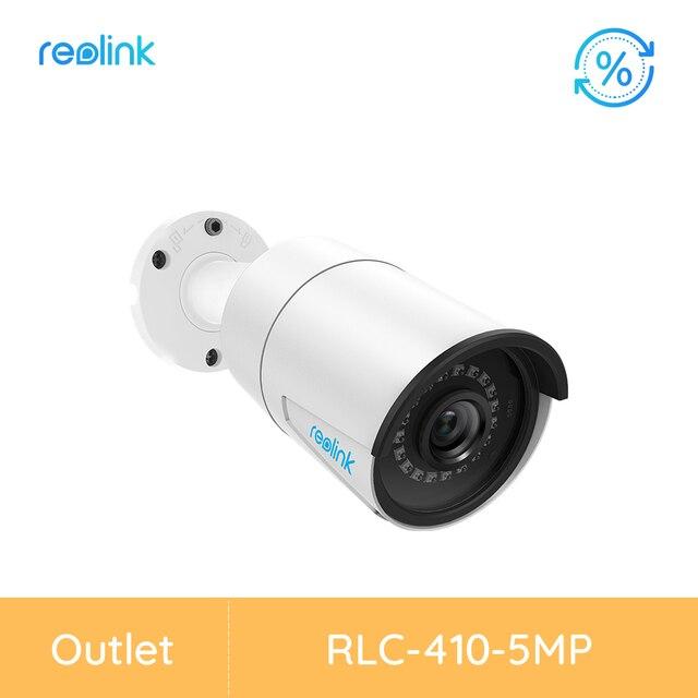 [[Tân Trang Camera] Reolink RLC 410 PoE IP 5MP HD Ngoài Trời Chống Nước Hồng Ngoại Quan Sát Ban Đêm Với Khe Cắm Thẻ Nhớ SD