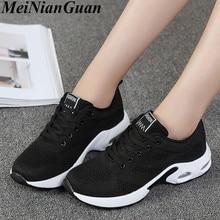 Air Cushion Women Shoe Breathable Sneakers Woman Sports Mesh