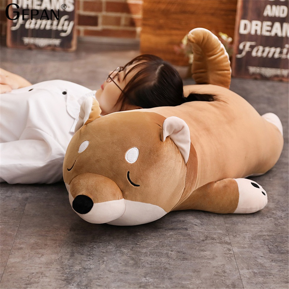40-100cm  High Quality Plush Stuffed Dog Big Toys Shiba Inu Dog Doll Lovely Animal Children Birthday Gift Corgi Plush Pillow