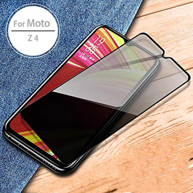 9H Della Copertura Completa Anti Spy Vetro Temperato per Motorola moto G7 Z4 G7 PIÙ Protezione Dello Schermo per Moto Z4 g7 PLUS Privacy Pellicola di Vetro