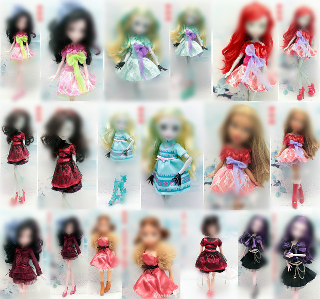 Monstering High Doll Clothes Handmade Outfit Soft Personality Doll Dress Jacket Skirt Doll Clothing Set Quality Doll Clothes 1