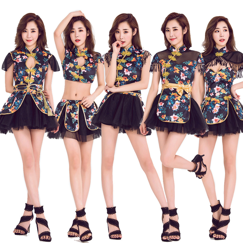 Japanese Style Dress For Women Kawaii Girls 2019 News Kimono Yukata Floral Collar Cheongsam Asian Clothes Vestidos Dance Costume