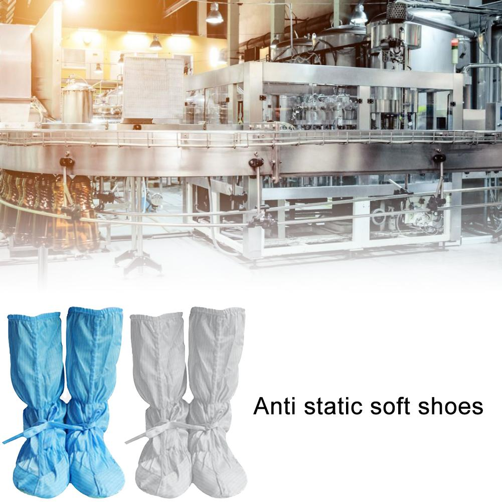 Anti-static Soft-soled Boots Dust-free Workshop Work Shoes Non-slip High-top Shoes Electronic Factory Soft Shoes