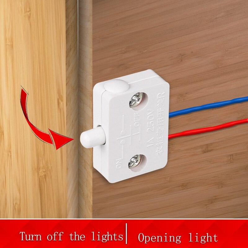 Bcsongben шкаф выключатель освещения в шкафу переключатель автоматического сброса бытовой шкафа дверной контрольный переключатель шкаф свети...