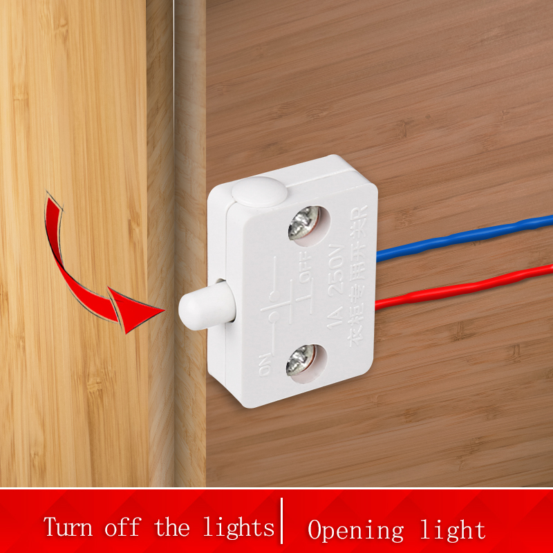 Bcsongben closet cabinet light switch automatic reset switch household cabinet door control switch Wardrobe light switch
