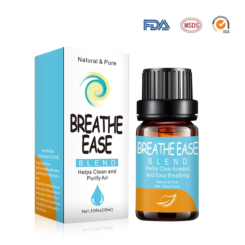 Breathe Ease 10ml Pure Essential Oils For Aromatherapy Diffusers Essential Oils Organic Body Relieve Stress Oil Skin Care N
