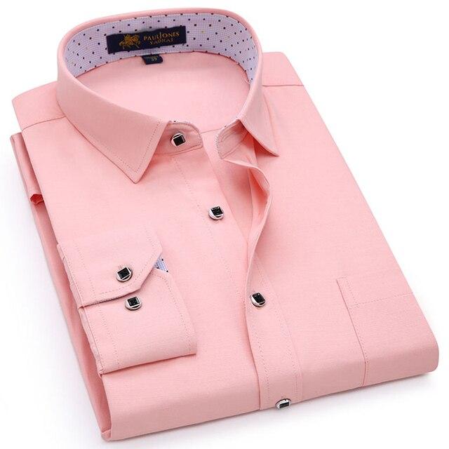 גברים רגילה fit של ארוך שרוול מוצק פשתן חולצה אחת תיקון כיס כיכר צווארון פנימי מנוקדת מזדמן כפתור עד דק חולצות