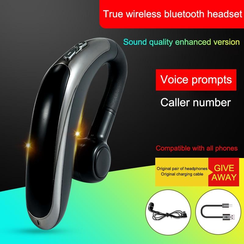 H500 Bluetooth Earphone Wireless Headphone Hook Design Comfortable Mobile Phone Alternate Earbud For Phone iPhone xiaomi Samsung