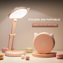 LED Cat Desk Lamp Foldable Touch Dimming Bedside Table Lamp Eye Protection Children Reading Lamp for Home Lighting Usb Charging