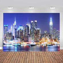 Виниловый фон для фотосъемки с изображением Нью Йорка Манхэттена