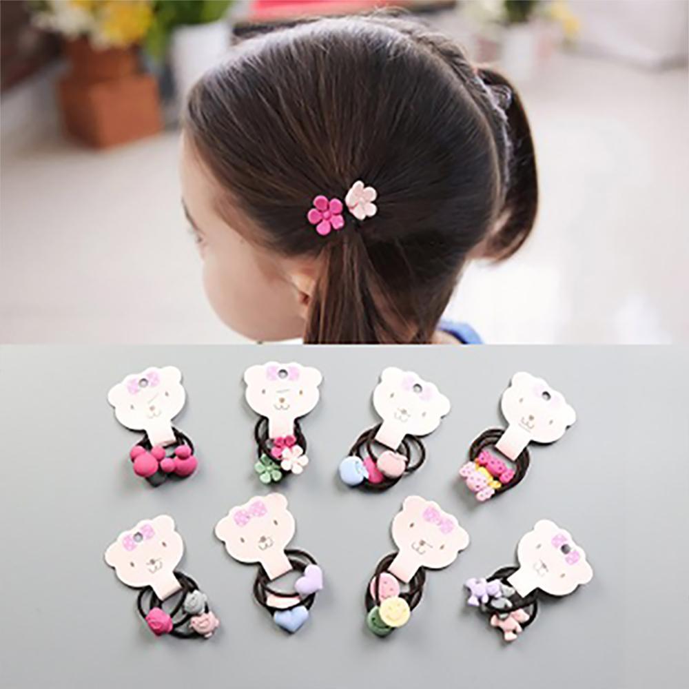 3Pcs Cute Cartoon Baby Headbands Set For Girls Headmade Elastic Soft Flower Baby Headband Hair Ropes For Kids Hair Accessories