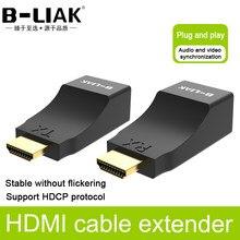 4K HDMI Extender HDMI Extension jusqu'à 30m sur Extension 30m sur CAT5e / CAT6 UTP câble Ethernet RJ45 Ports réseau LAN pour PC